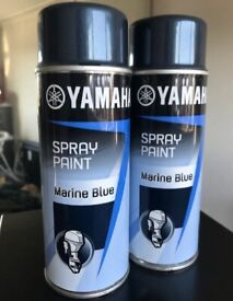 1 x YAMAHA MARINE BLUE outboard motor paint. 400ml aerosol. All models 1983-93.