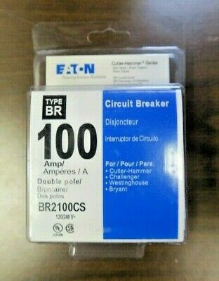 Eaton Br2100cs Type Br 100 Amp Double Pole Circuit Breakers New W Free Shipping