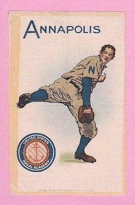 c1910s murad tobacco silk ANNAPOLIS / NAVAL ACADEMY  Baseball Pitcher  NICE!!