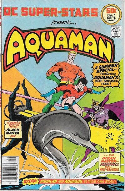 DC Super-Stars Comic Book #7 Aquaman DC Comics 1976 NEAR MINT