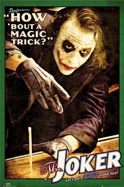 DARK KNIGHT - JOKER MAGIC TRICK POSTER - 24x36 - DC COMICS B
