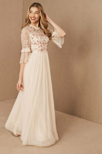 NWT BHLDN NEEDLE & THREAD BUTTERFLY MEADOW GOWN- SIZE 2
