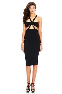 Nookie Claudia Black Bodycon Dress! Forrest South Canberra Preview
