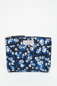 BNWT Jack Wills Attlesey Make Up Bag - Navy Ditsy Print