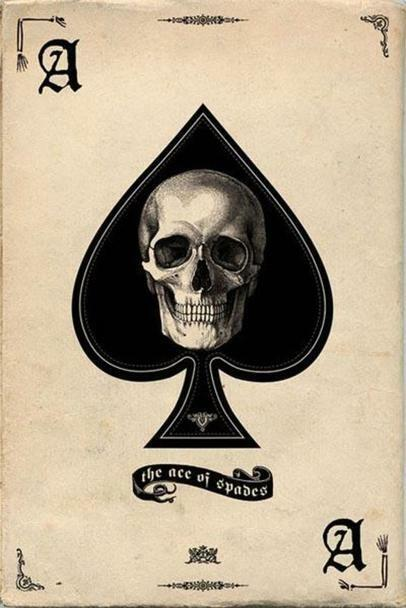 "Ace of Spades Retro Art Print Poster 24"" x 36"""