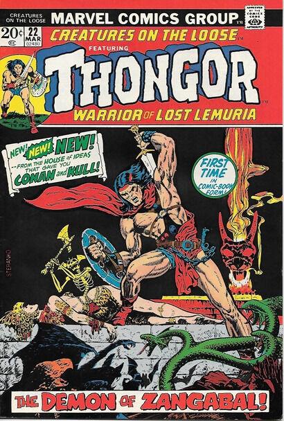 Creatures On The Loose Comic Book #22, Marvel Comics 1973 VERY FINE-