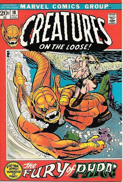 Creatures On The Loose Comic Book #18, Marvel Comics 1972 VERY FINE