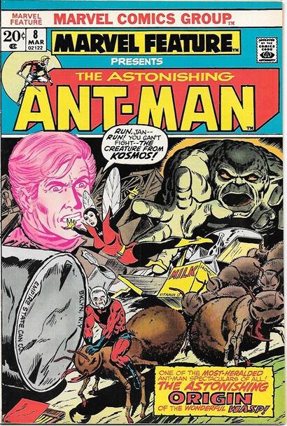 Marvel Feature Comic Book #8 Ant-Man Marvel Comics 1973 VERY FINE/NEAR MINT