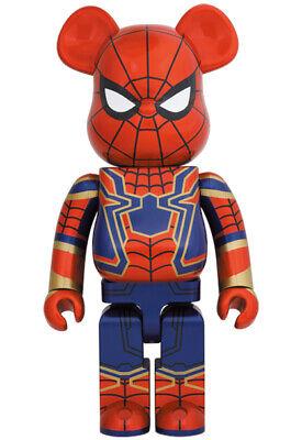 BEARBRICK Iron Spider 1000% Spiderman Avengers Marvel Be@rbrick Medicom Toy