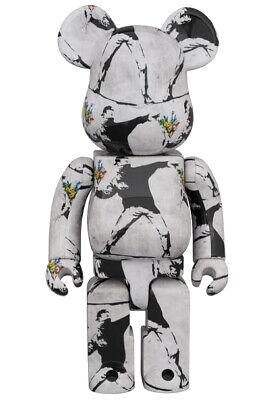 BEARBRICK Flower Bomber 1000% Banksy Medicom Toy