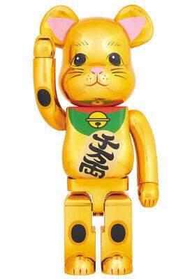 BEARBRICK Maneki Neko Gold 1000% Lucky Cat 2017 BE@RBRICK  Medicom Toy
