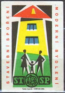 Czechoslovakia matchbox label 2396 Lipnik 1961 Stavebni sporeni - Bydgoszcz, Polska - Czechoslovakia matchbox label 2396 Lipnik 1961 Stavebni sporeni - Bydgoszcz, Polska