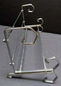 Like-New Chrome-plated Steel Book Stand / Portable Shelf