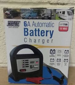 Maypole 6a automatic battery charger new