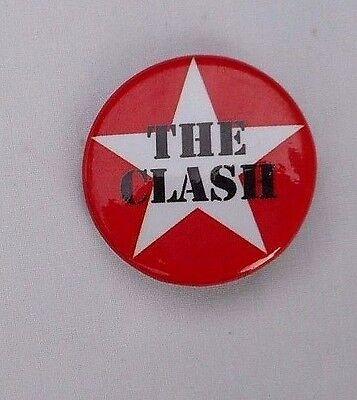 The Clash Button/ Pin Clash Star Punk Rock New