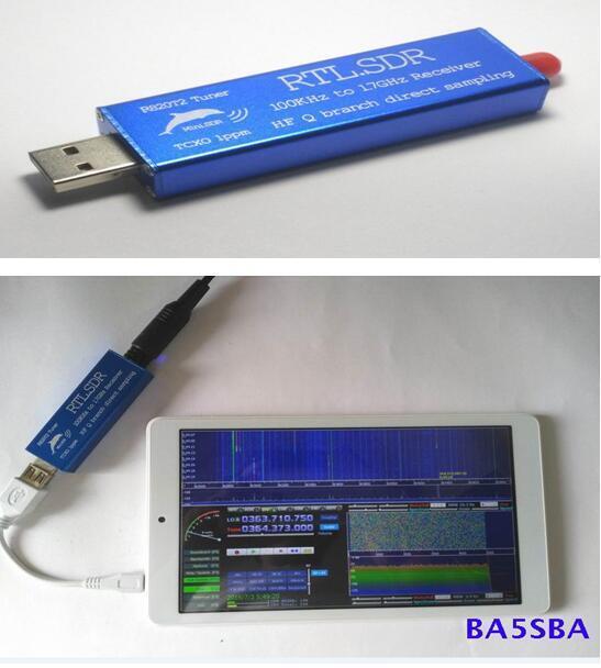 RTL2832U+R820T2 0.1MHz-1.7GHz TCXO ADSB UHF VHF HF FM RTL.SDR USB Tuner Receiver