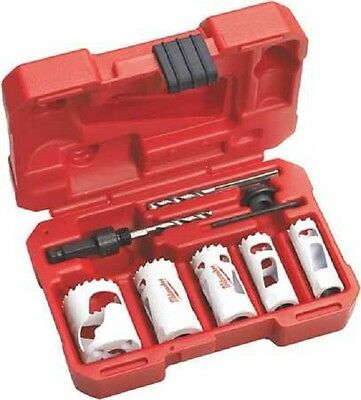 Milwaukee 49-22-4138 Plumbers 8 Pc Bi-metal Hole Saw Kit - In Stock