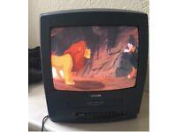 "Retro Gaming Display PHILIPS 14PV110/07 Combi 14"" CRT TV VHS VCR Video"