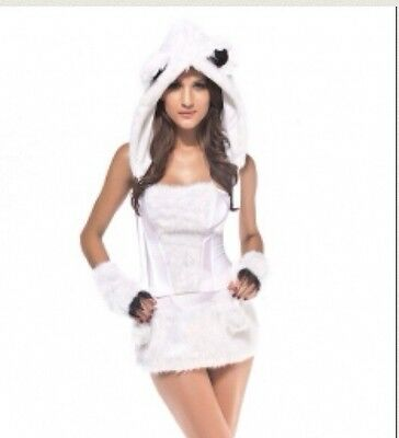 Polar Bear Halloween Costumes (Sexy Deluxe Polar Bear Halloween Costume Medium)