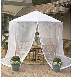 Umbrella Mosquito Net Canopy Patio Set Screen House Wht Free Shipping From Usa