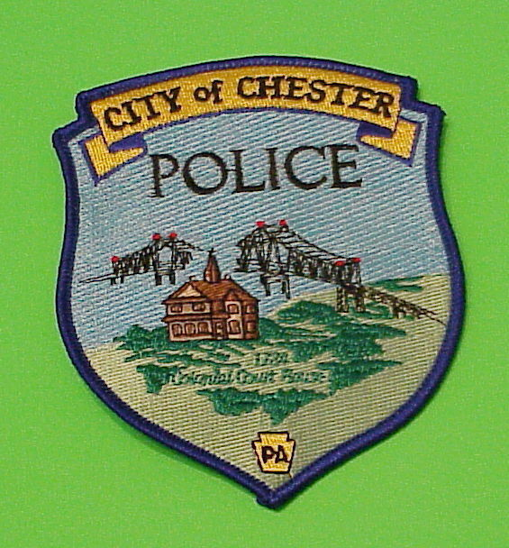 CHESTER  PENNSYLVANIA  PA  ( BRIDGES )  POLICE DEPT. PATCH  FREE SHIPPING!!!