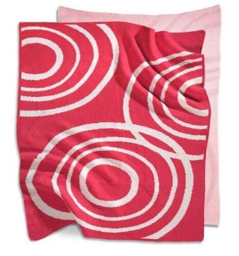 "NOOK Sleep System 100% Organic 40"" x 30""  Knit Blanket Blossom Pink NWT NEW"