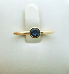 0.50ct Genuine Natural Blue Sapphire Solitaire ring