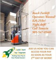 Reach Forklift Operators Wanted in Brantford!