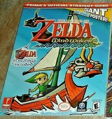 Nintendo Legend of Zelda The Wind Waker Prima Official Strategy Guide NO POSTER