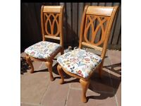 A Pair Of Solid Chairs