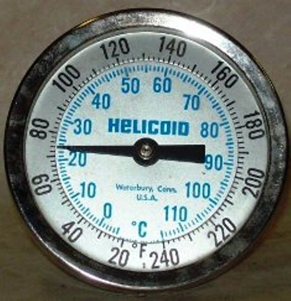 "Helicoid 3"" 20-240 F/c Temperature Gauge 3t1a2226f0000"