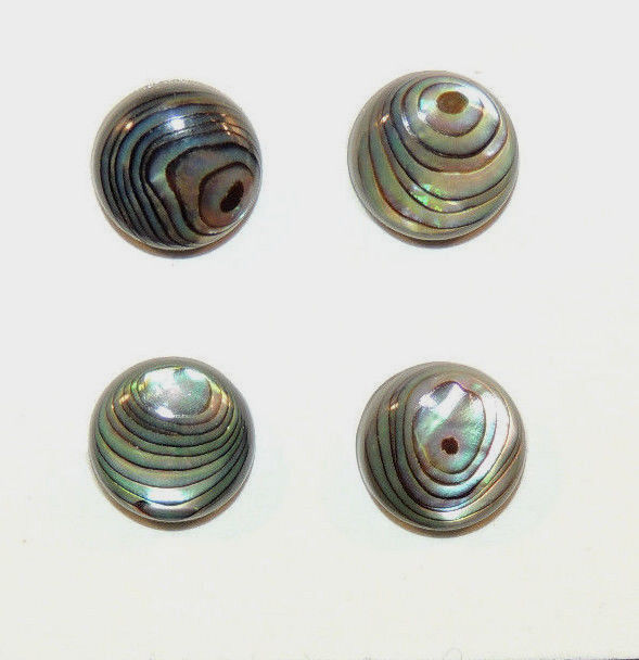 Abalone 10mm Cabochon Set of 4 with 3.5-4mm Dome (8902)