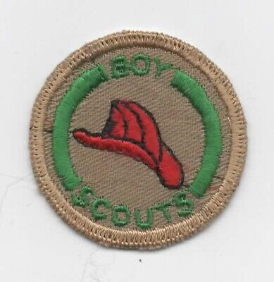Fireman #2 Merit Badge (Canada), Embroid. on Smooth Twill, C/E (1950's), (Smooth On Canada)