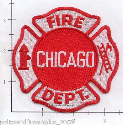 Illinois - Chicago IL Fire Dept Patch v3 - Red