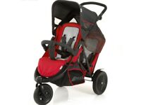 Hauck double pushchair - red