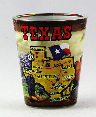 Texas Collage (TEXAS STATE COLLAGE SHOT GLASS RTP)
