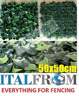 seto artificial boj poda artística hojas de hiedra 50x50cm pantalla de privacida