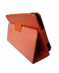 Orange-PU-Leather-Case-With-Stand-Flip-Cover-For-HTC-Flyer-Protection