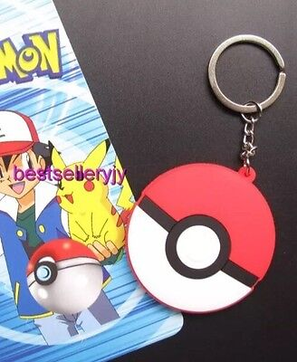 Pokemon Pokeball Rubber Keychain 2 Inches Double Sided US Seller