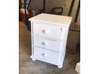 Shabby chic pine bedside cabinet