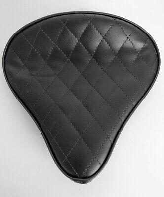 Large Custom Solo Seat Black Diamond for Harley Bobber Chopper Yamaha Triumph