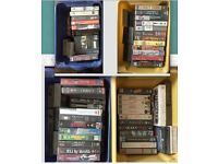 Assortment of VHS video films, music videos, etc. COLLECTION ONLY.