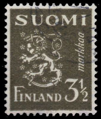 "FINLAND 176A (Mi265) - Finnish Lion ""1942 Olive"" (pa7284)"