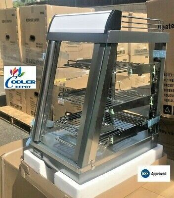 New Warmer Display Case Heated Counter Top Hot Food Snack 13 X 19 X 24 Nsf