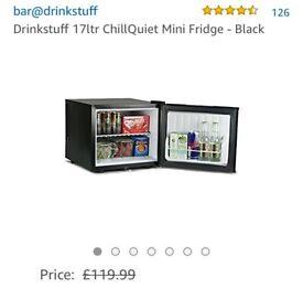 Drinkstuff brand 17litre black bar fridge Brand new never used