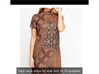 High neck dress brand new