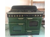 Rangemaster Classic 110 Dual Fuel Cooker in Racing Green- FOR SALE