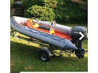 4m Avon Rib Inflatable Boat 60hp Mariner