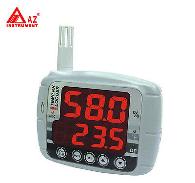 Temperature Humidity Dew Point Meter Tester Data Logger 16k Memory Usb Red Led