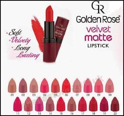 Golden Rose Velvet Matte Lipstick Soft with Vitamin E,Sexy lipstick ,Best